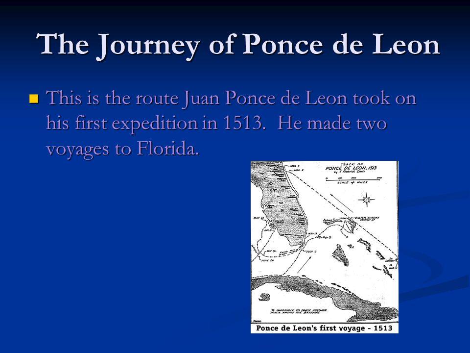 The Journey of Ponce de Leon