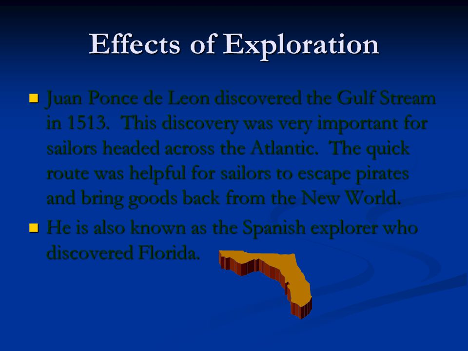 Effects of Exploration