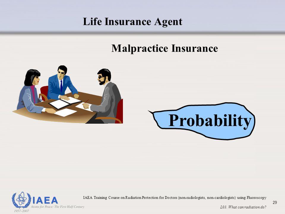 Probability Life Insurance Agent Malpractice Insurance