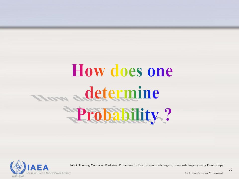 How does one determine Probability