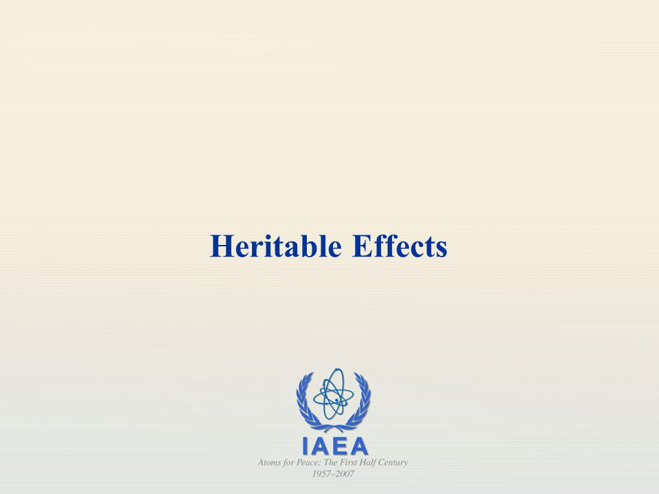 Heritable Effects