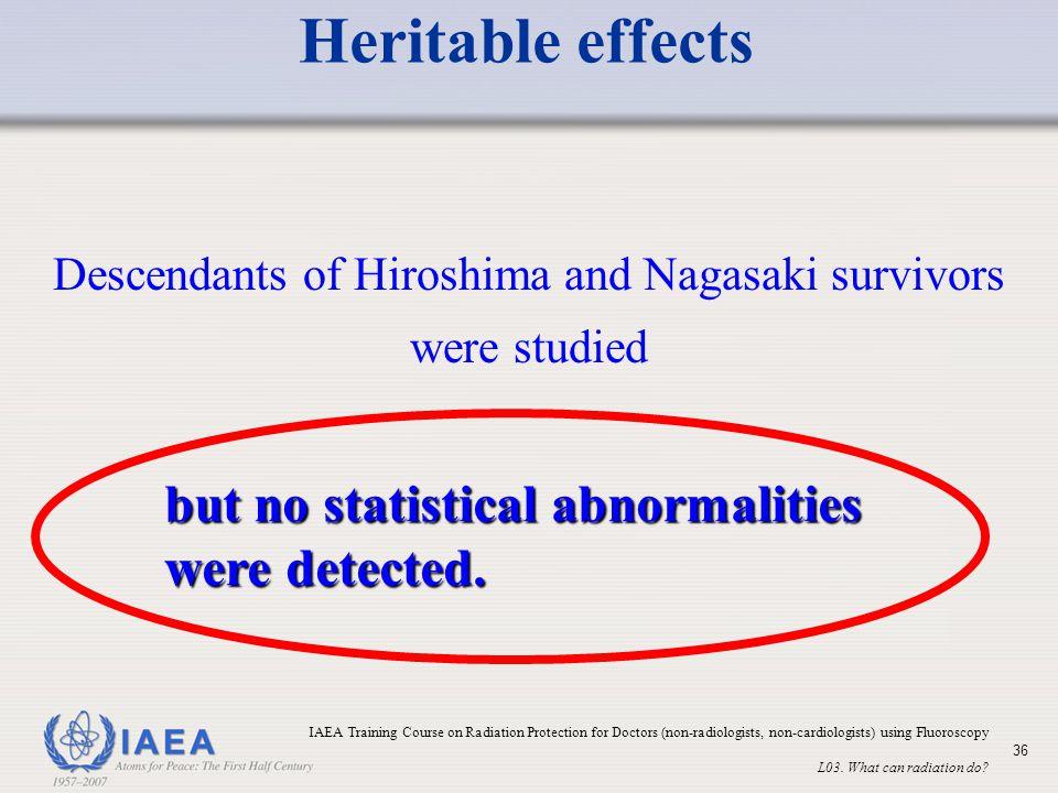 Descendants of Hiroshima and Nagasaki survivors were studied