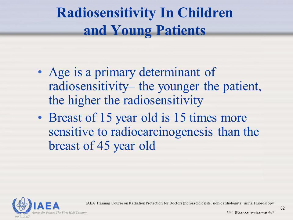Radiosensitivity In Children and Young Patients