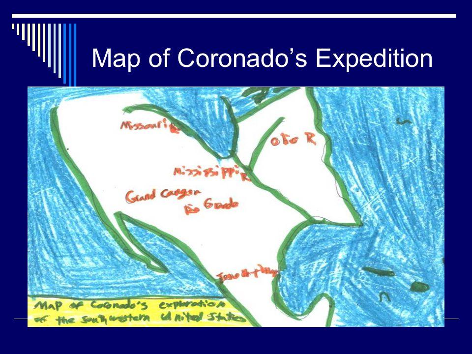 Map of Coronado's Expedition