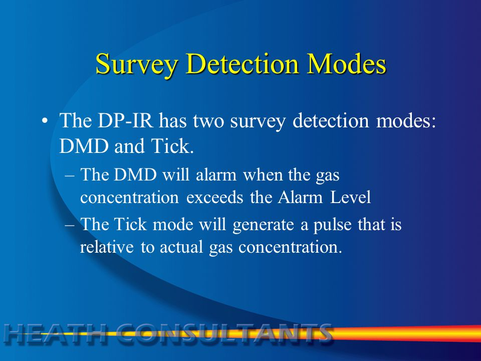 Survey Detection Modes