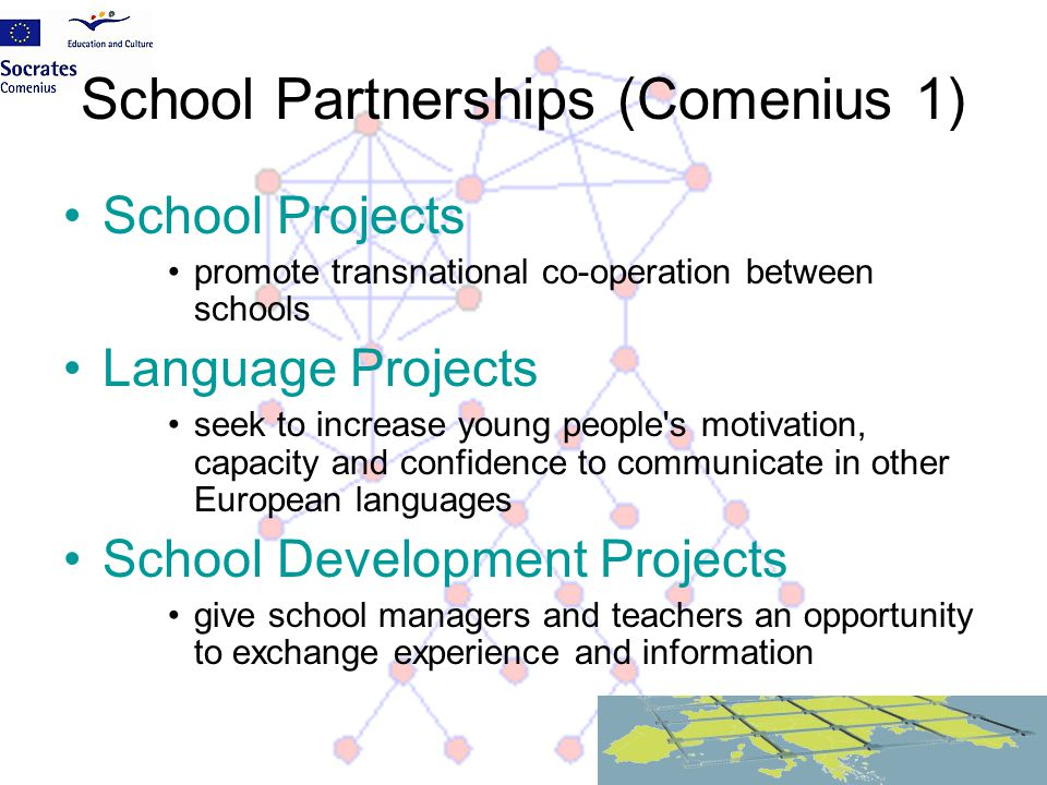 School Partnerships (Comenius 1)
