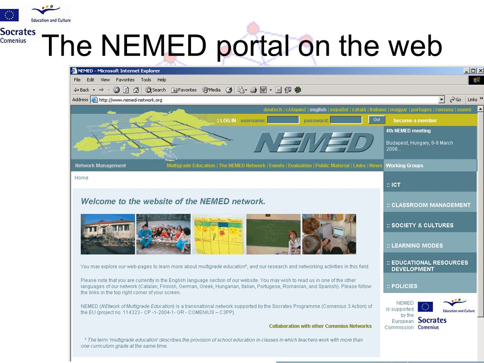 The NEMED portal on the web