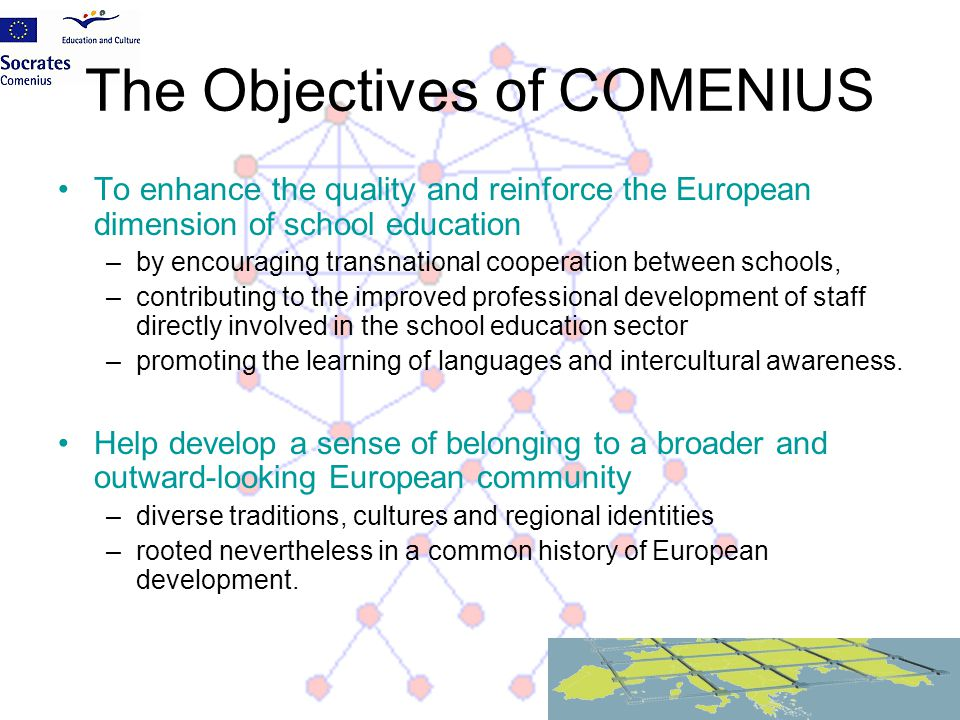 The Objectives of COMENIUS