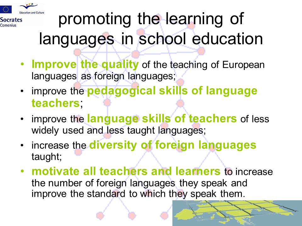 promoting the learning of languages in school education