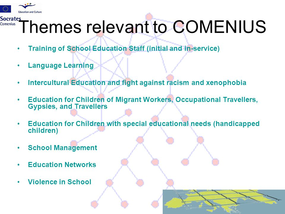 Themes relevant to COMENIUS