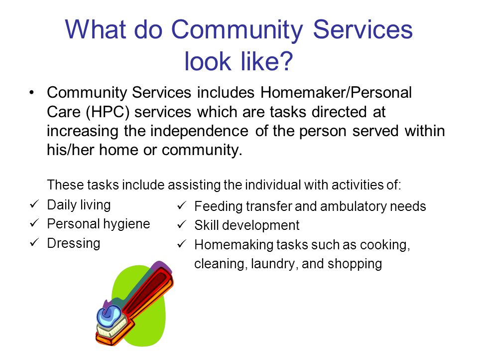 What do Community Services look like