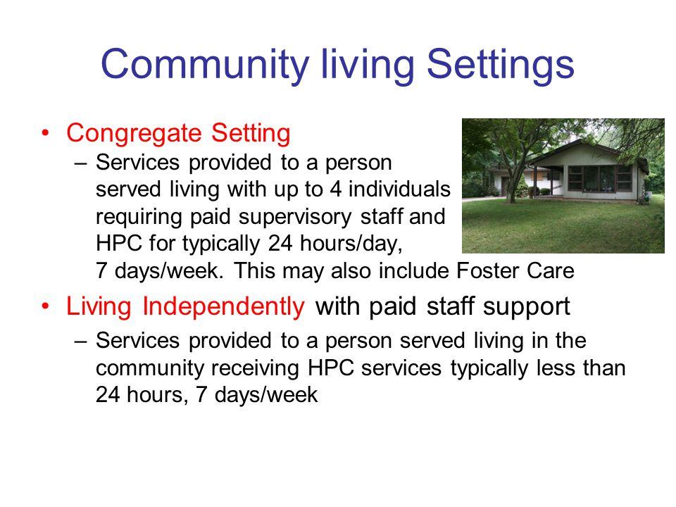 Community living Settings