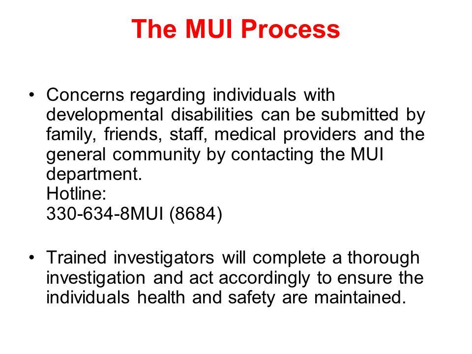The MUI Process