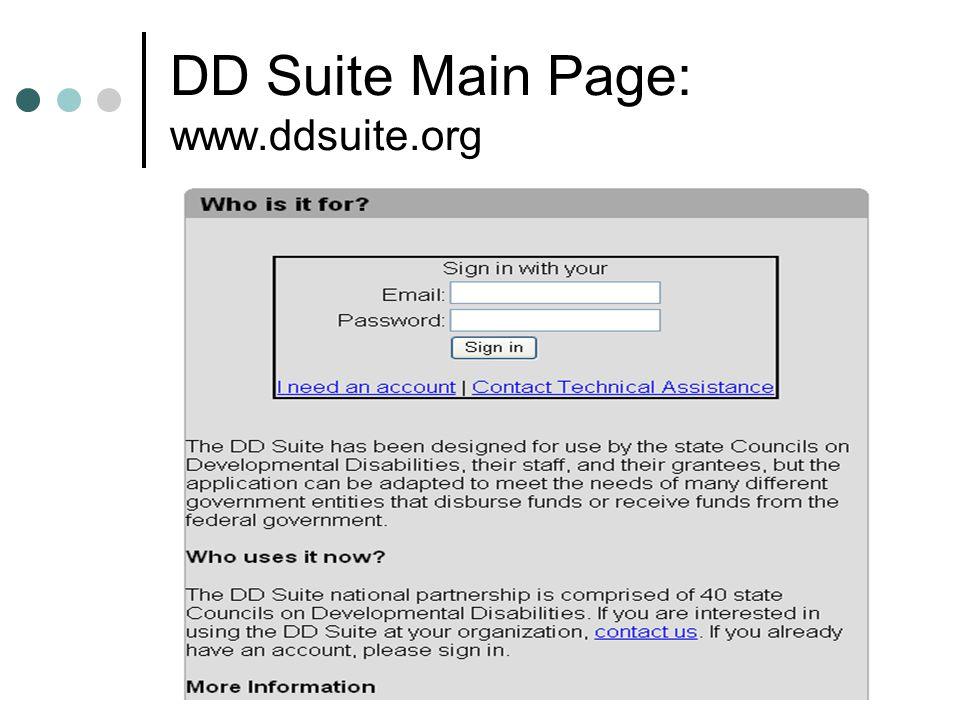 DD Suite Main Page: www.ddsuite.org