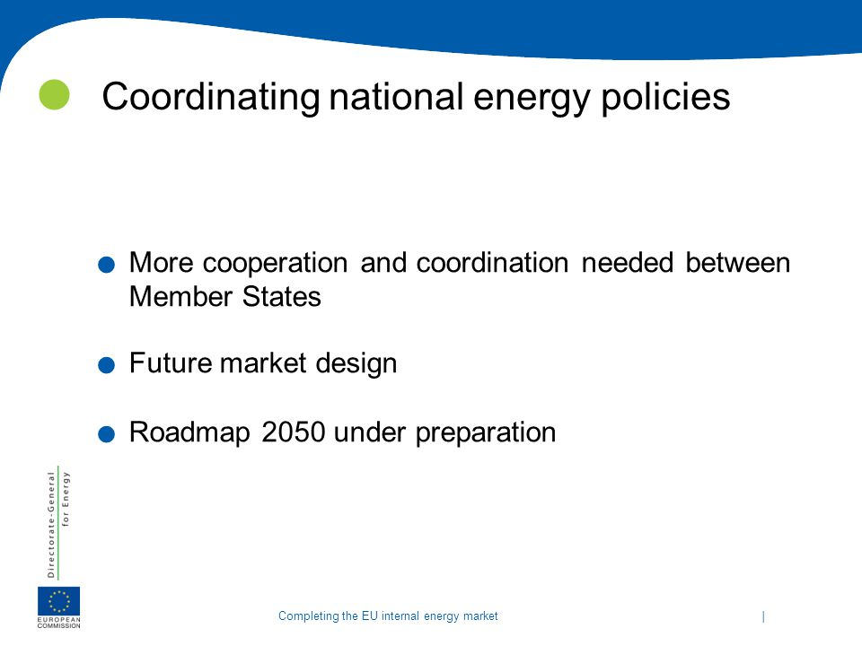 Coordinating national energy policies