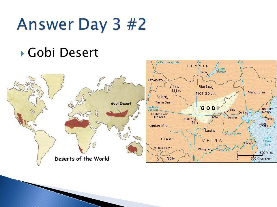 Answer Day 3 #2 Gobi Desert
