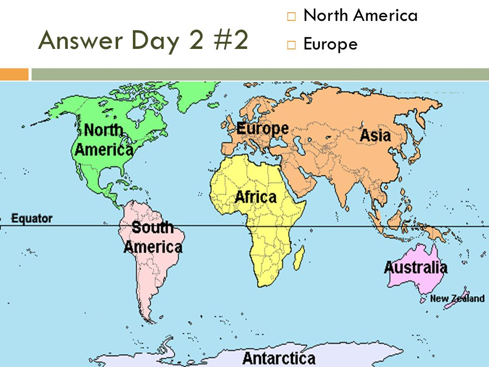 North America Europe Answer Day 2 #2