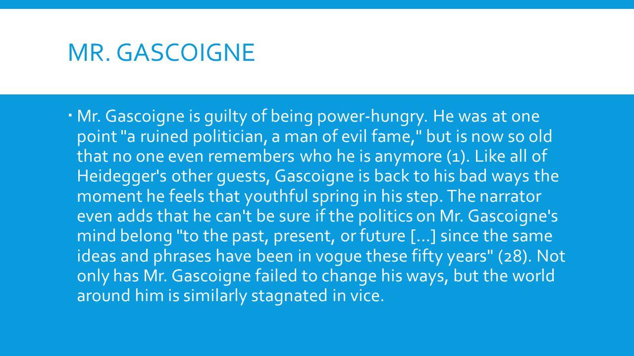 Mr. gascoigne