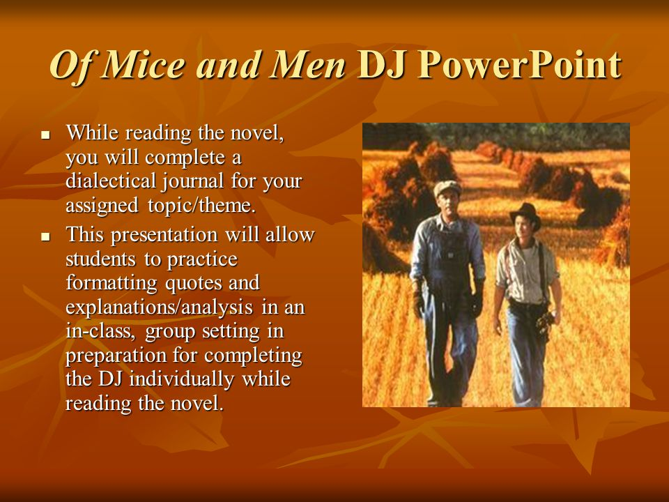 Of Mice And Men DJ PowerPoint