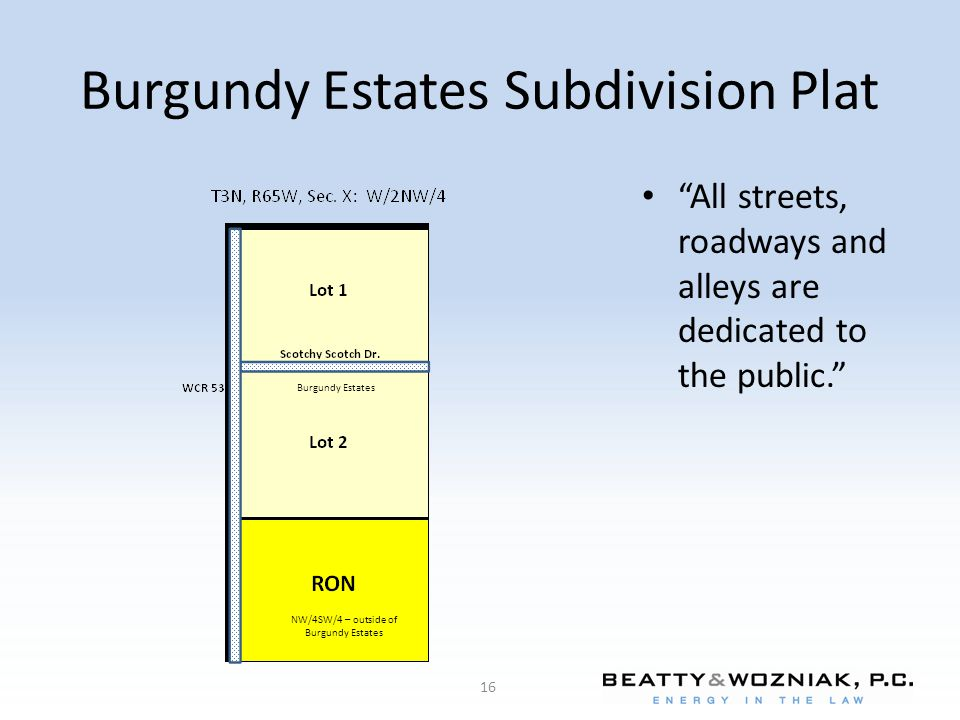 Burgundy Estates Subdivision Plat