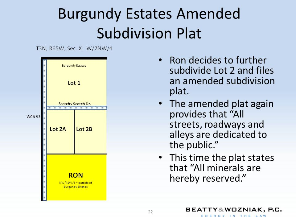 Burgundy Estates Amended Subdivision Plat