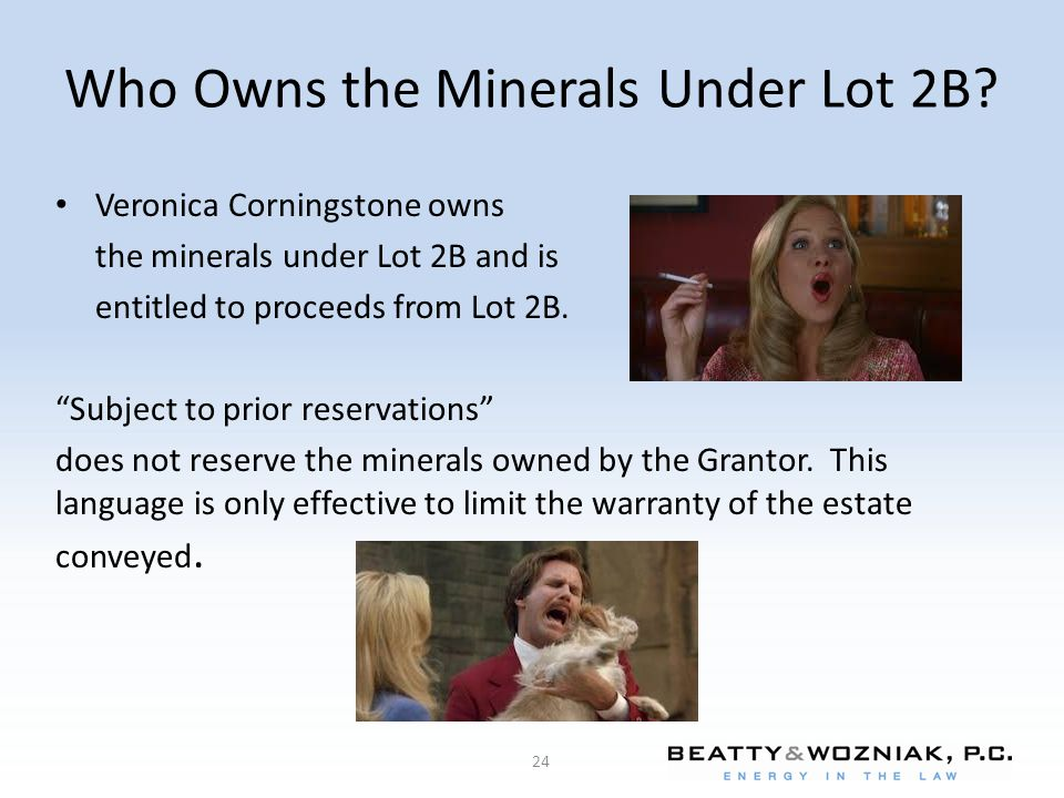 Who Owns the Minerals Under Lot 2B