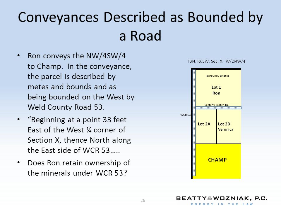 Conveyances Described as Bounded by a Road