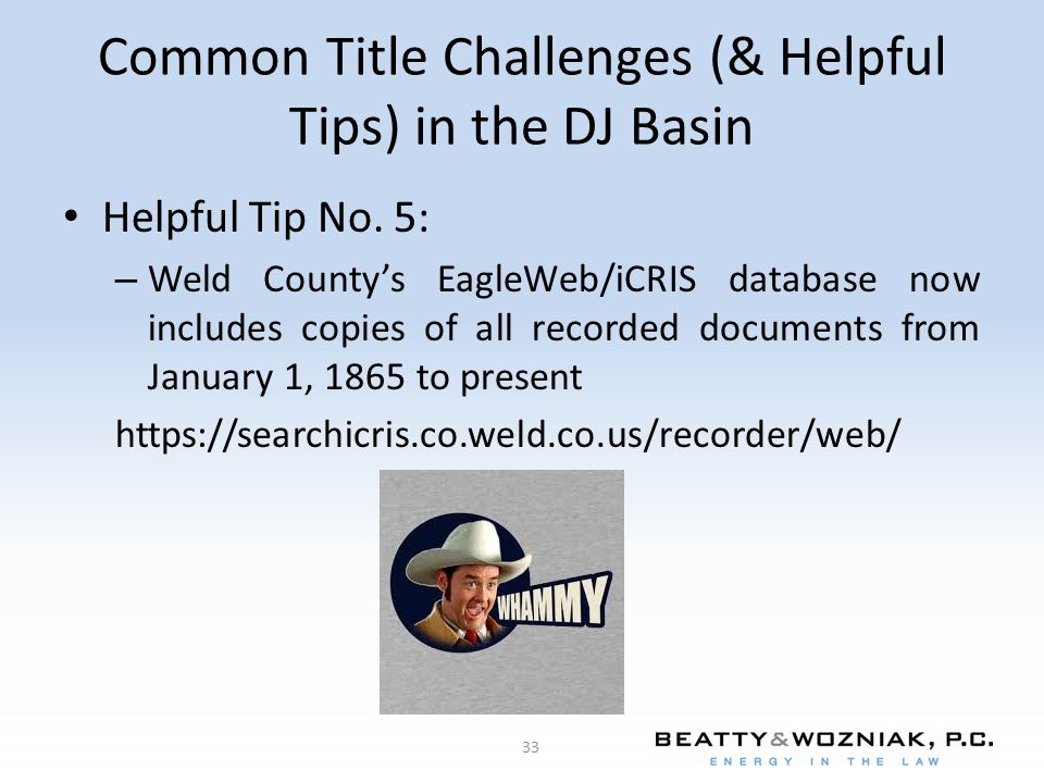 Common Title Challenges (& Helpful Tips) in the DJ Basin