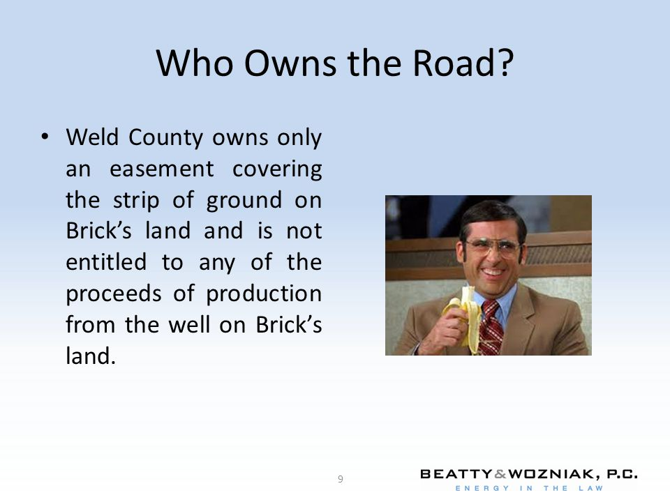 Who Owns the Road