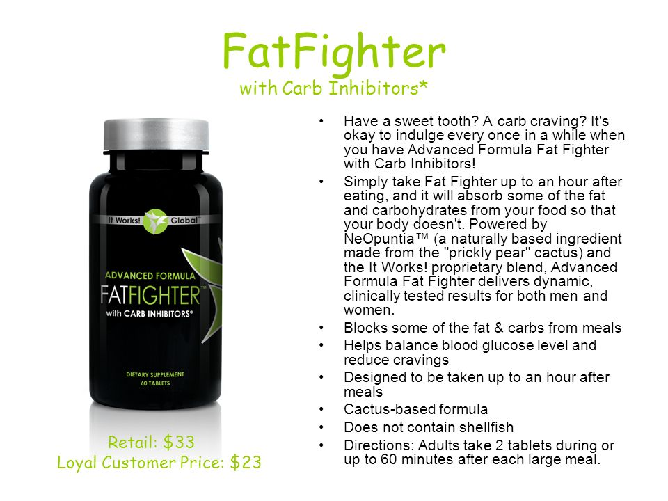 FatFighter with Carb Inhibitors*