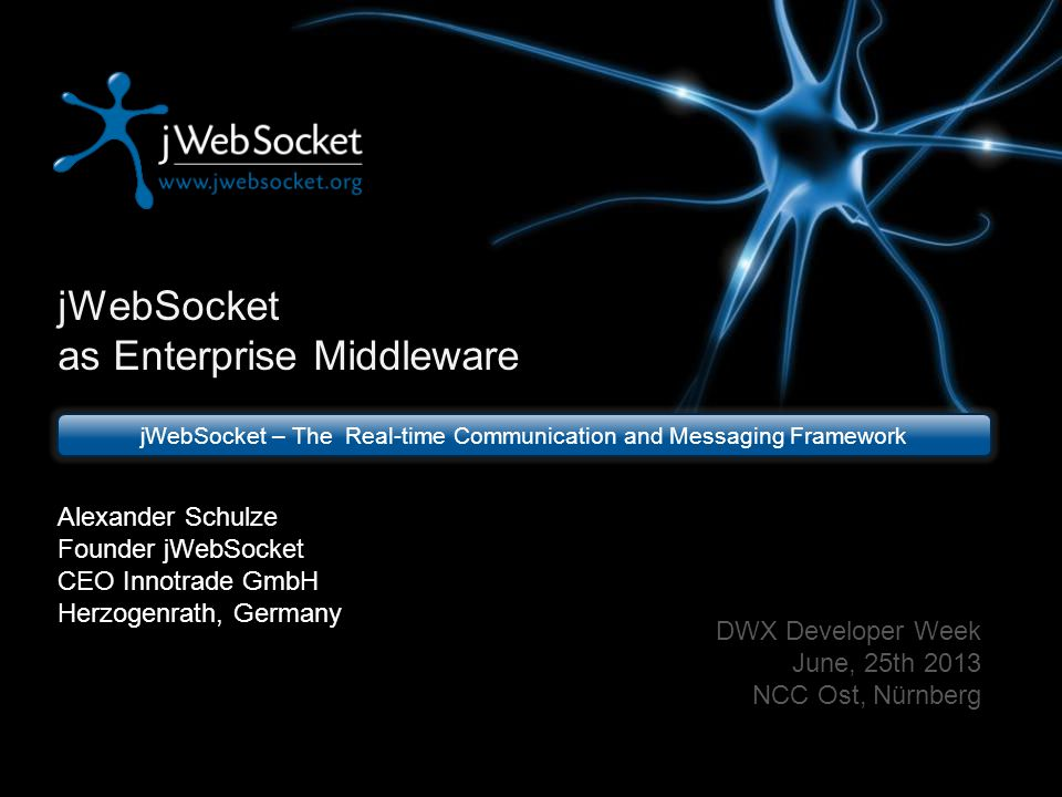 jWebSocket – The Real-time Communication and Messaging Framework