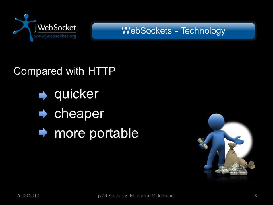 quicker cheaper more portable Compared with HTTP