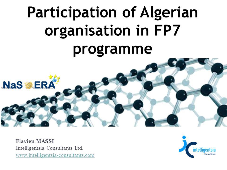 Participation of Algerian organisation in FP7 programme