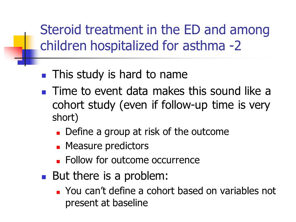 Steroid treatment in the ED and among children hospitalized for asthma -2