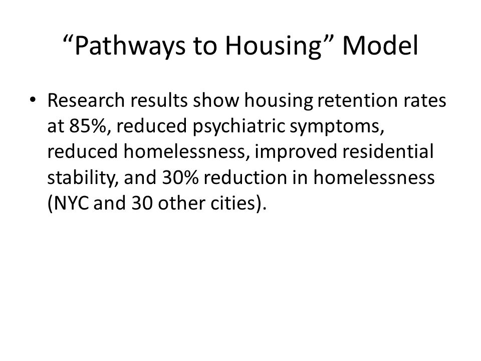 Pathways to Housing Model