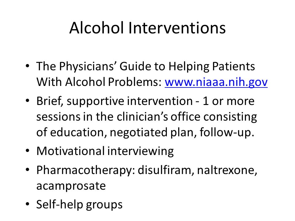 Alcohol Interventions