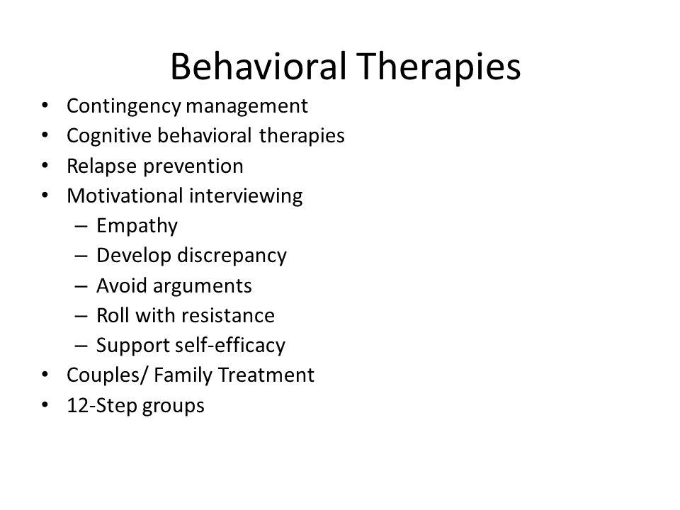 Behavioral Therapies Contingency management