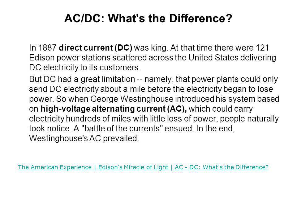 AC/DC: What s the Difference