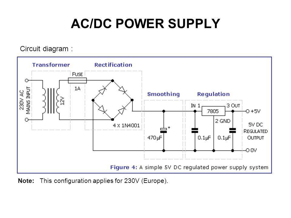 alternating current diagram. 6 ac/dc power supply circuit diagram : alternating current