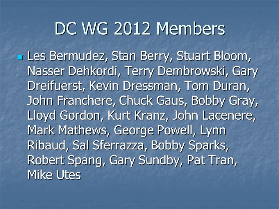 DC WG 2012 Members