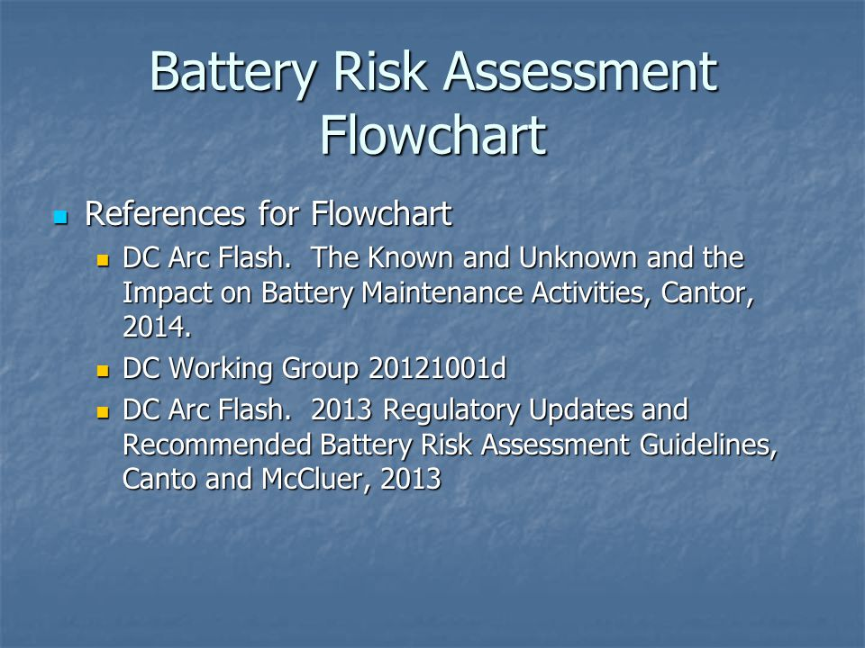 Battery Risk Assessment Flowchart