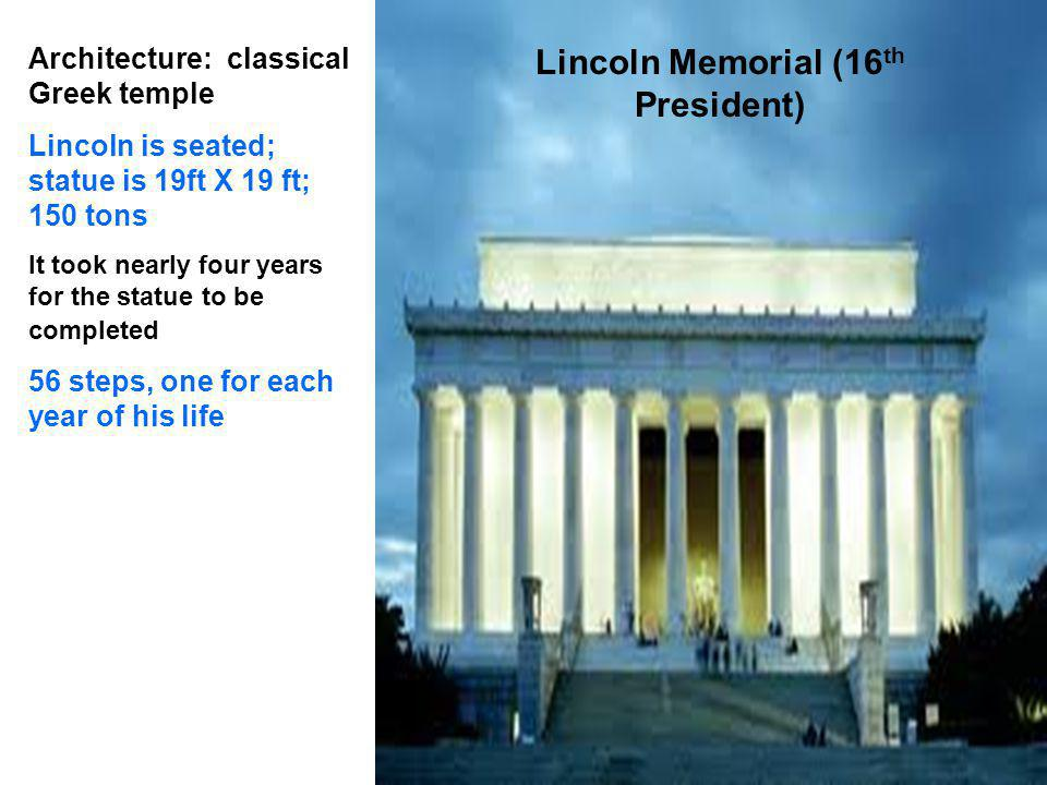 Lincoln Memorial (16th President)