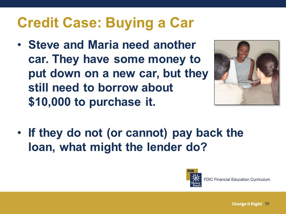 Credit Case: Buying a Car