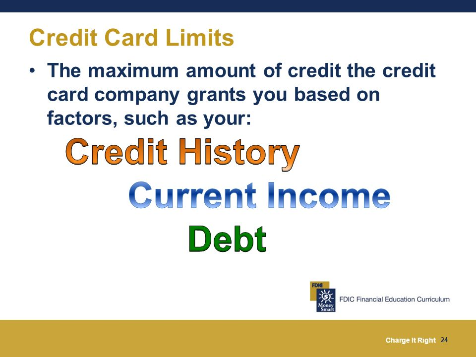 Credit History Current Income Debt Credit Card Limits