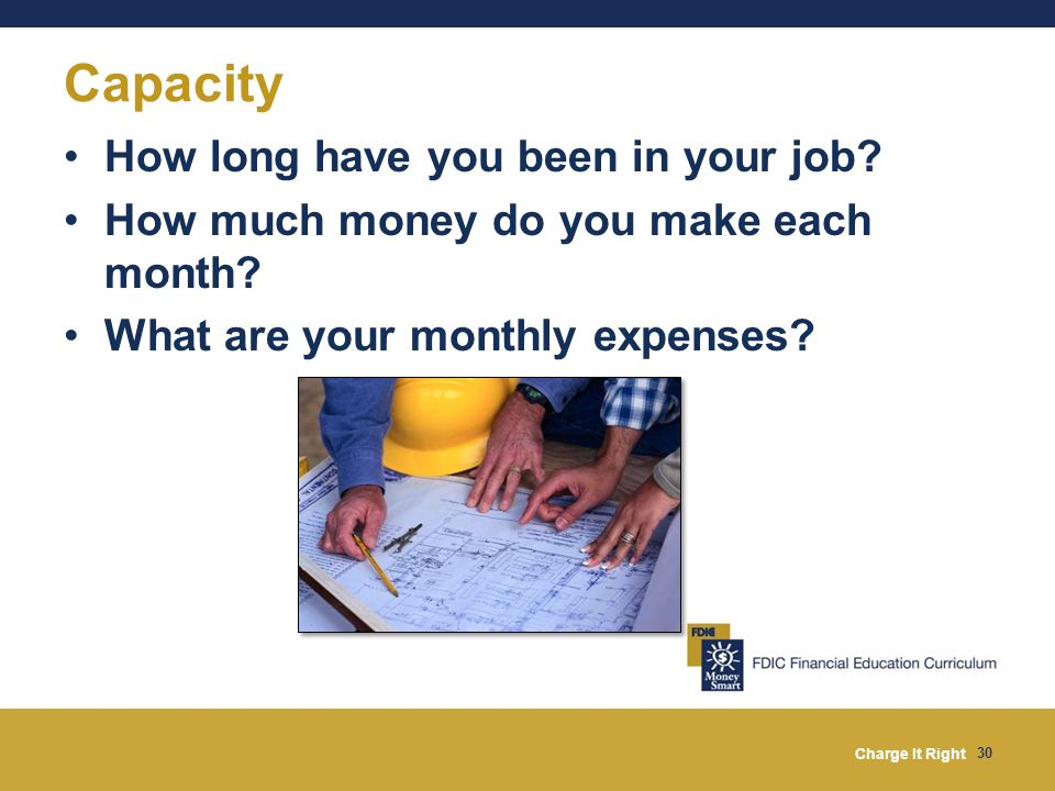 Capacity How long have you been in your job