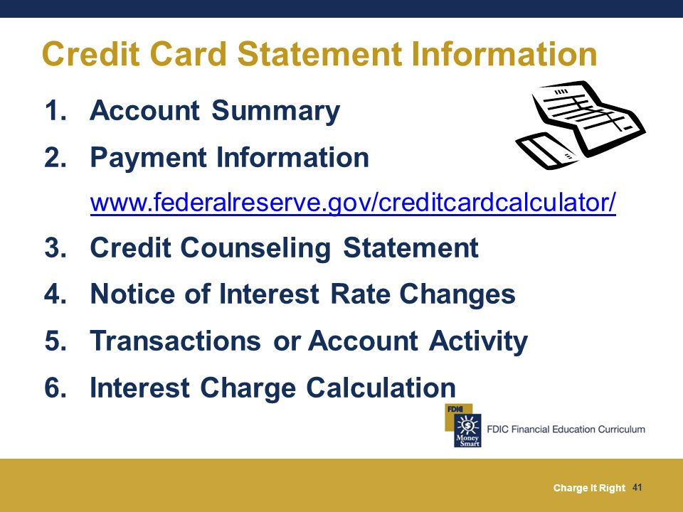 Credit Card Statement Information