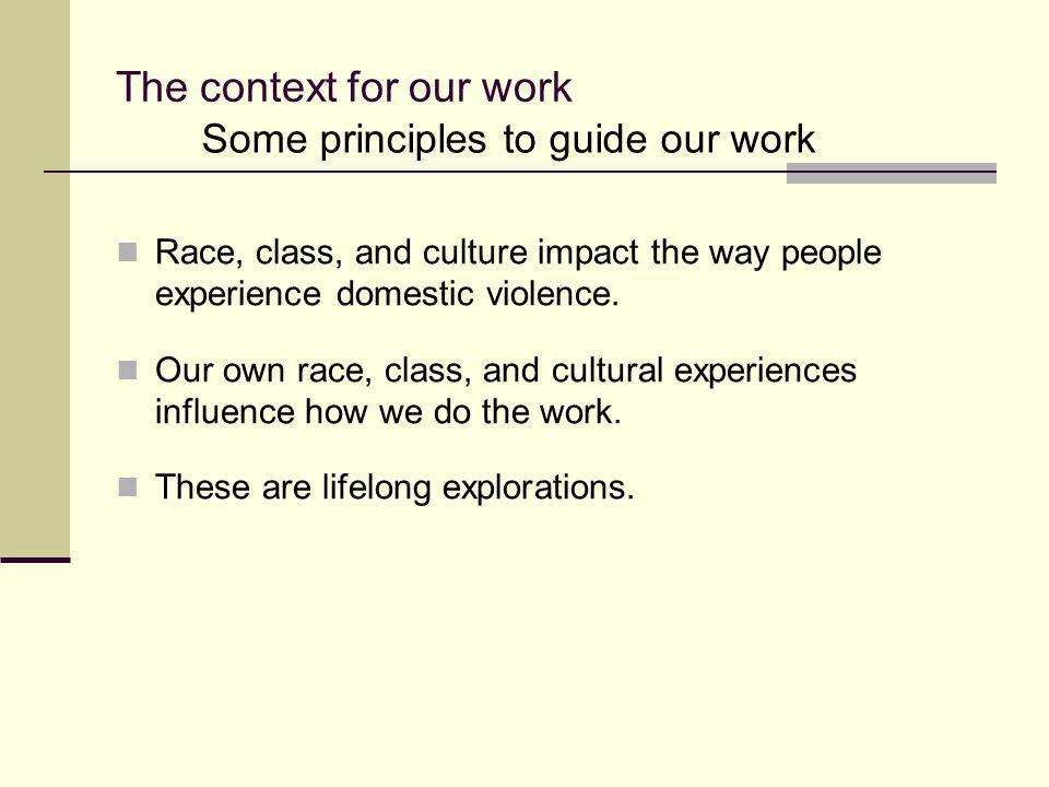 The context for our work