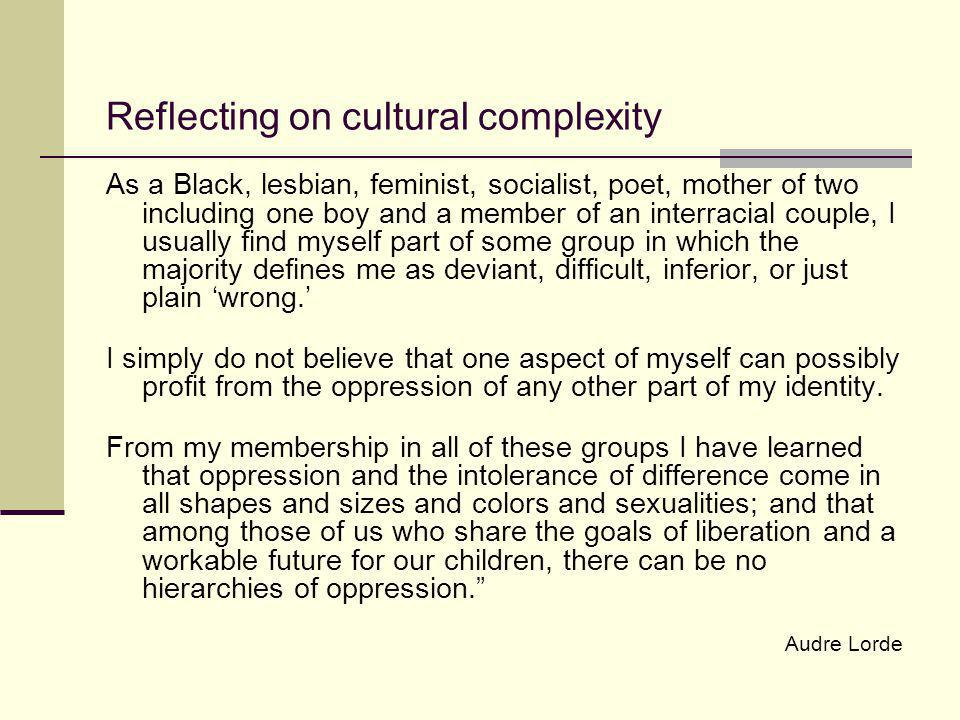 Reflecting on cultural complexity