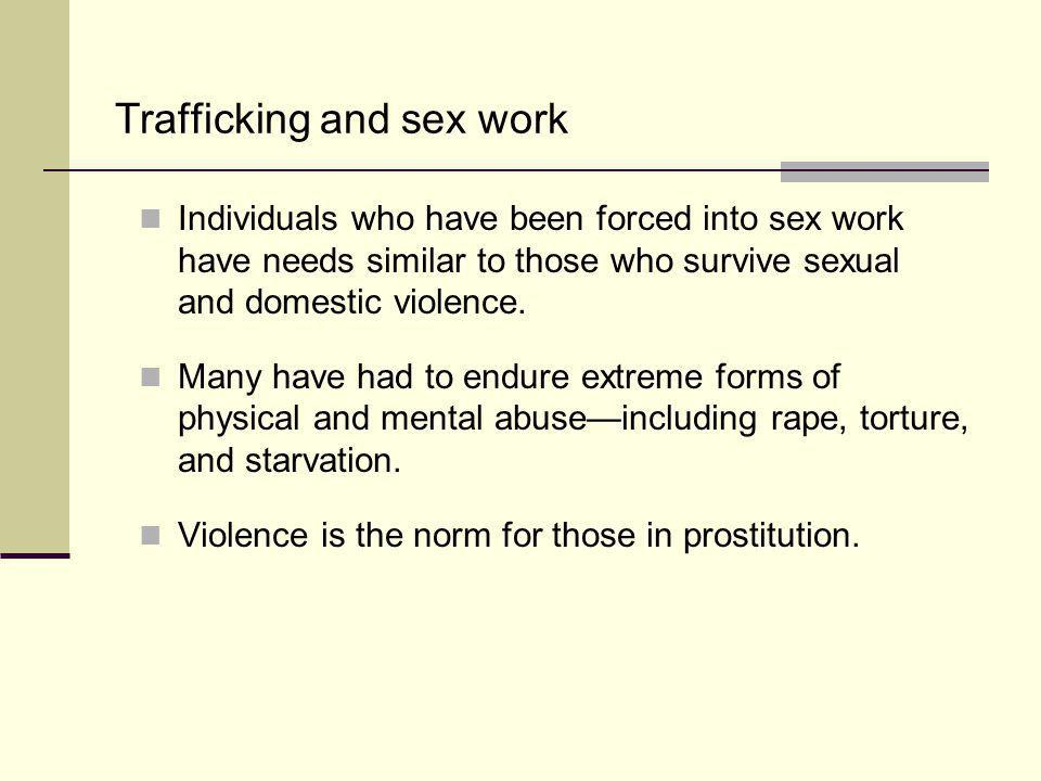 Trafficking and sex work