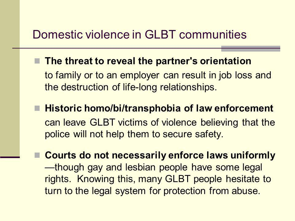 Domestic violence in GLBT communities